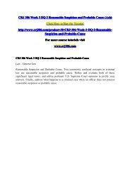 CRJ 306 Week 3 DQ 2 Reasonable Suspicion and Probable Cause (Ash) / crj306dotcom