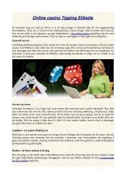 Online casino Tipping Etikette