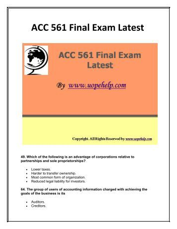 acc 242 exam 1 Acc242 fall 2013 exam ii practice questions 1 pages exam 2 study guidepdf  arizona state university acc 242 - fall 2014 register now exam 2 study.