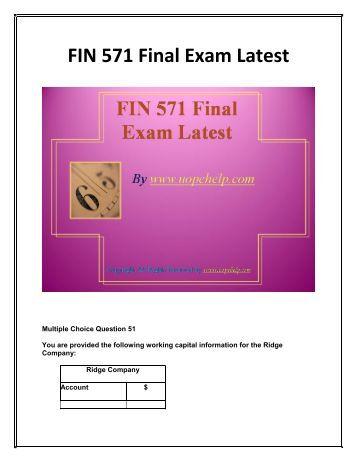 fin 571 week 6 final exam