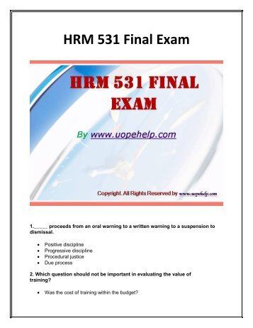 hrm 582 final exam Hrm592_week8_final exam 27 pages hrm592_final exam devry university, keller graduate school of management training and development hrm 592 - fall 2016  this is a course project for hrm-592 i already did the part 1 which was the basic introduction of the company on which 1 (tcos c, d) discuss the three levels of analysis that should be.