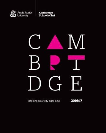 Cambridge School of Art brochure 2016-17