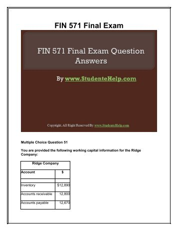 managerial finance final exam Final exam 5/11 learn with flashcards, games, and more — for free.
