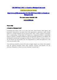 CRJ 308 Week 2 DQ 1 A Genetic or Biological Link (Ash) / crj308dotcom