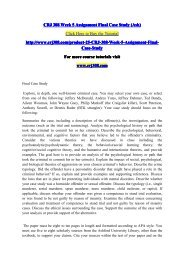 CRJ 308 Week 5 Assignment Final Case Study (Ash) / crj308dotcom
