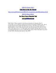 QRB 501 Week 2 DQ 2/QRB501nerddotcom