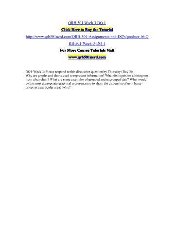 QRB 501 Week 3 DQ 1/QRB501nerddotcom
