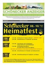 Amtsblatt der Stadt Schöneck / Vogtland und der Gemeinde Mühlental