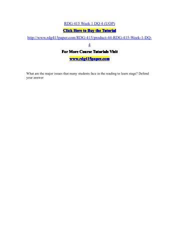 RDG 415 Week 1 DQ 4 (UOP)/RDG415paperdotcom