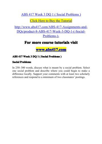 ABS 417 Week 3 DQ 1-abs417dotcom
