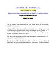 CRJ 311 Week 5 DQ 1 Blood Patterns (Ash) / crj311dotcom
