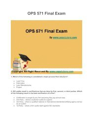 OPS 571 Final Exam Latest UOP Course Assignments