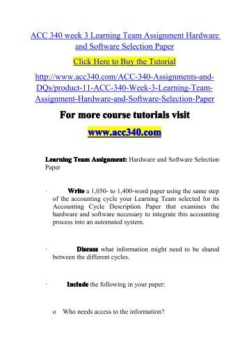 final exam acc340 Acc 340 final exam guide click here to buy the tutorial for more course tutorials visit wwwacc340com.