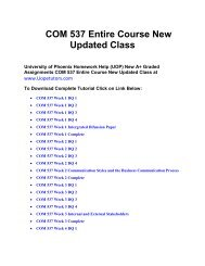 COM 537 Entire Course New Updated Class