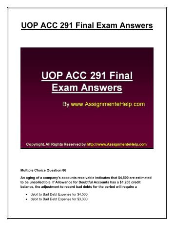 ACC/557 Homework 4 Chapters 11 and 12