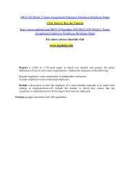 MGT 434 Week 2 Team Assignment Employer Employee Relations Paper