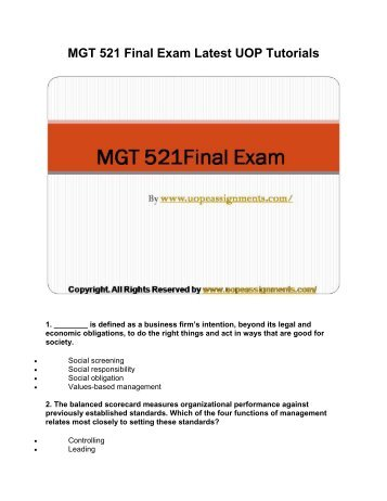 mgt 557 final exam Conflicts associated with present management of recreational fisheries how  science is translated  recreational fisheries in washington state (40%), and a  final exam (40%)  pages 481-557, 589-617 in: kohler, cc and wa hubert  (eds).