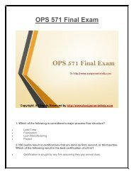 OPS 571 Final Exam UOP Complete Course Assignment eHelp