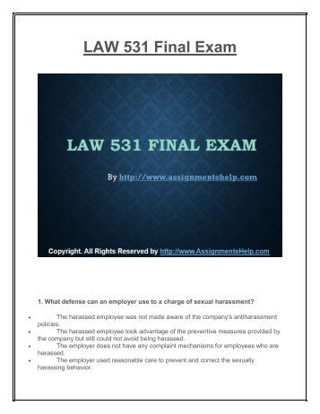 law 531 final exam latest Latest and updated information about virtual classes and registration details   seperaccom  business law 531 final exam.