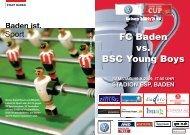 Matchprogramm - FC Baden Supportervereinigung
