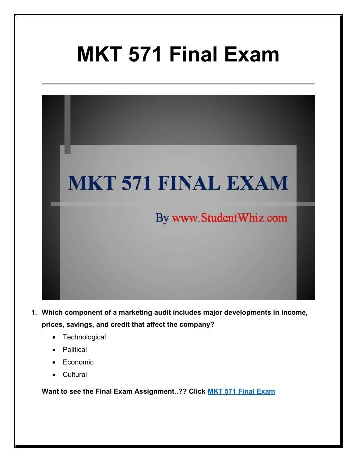 mkt 593 final examination Study 68 mkt final exam flashcards from seanei g on studyblue.