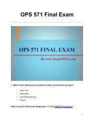 OPS 571 Final Exam UOP Complete Course Assignment