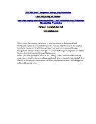 COM 486 Week 2 Assignment Message Map Presentation