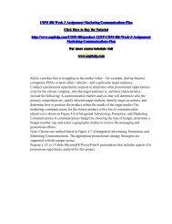 COM 486 Week 3 Assignment Marketing Communications Plan