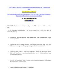 COM 530 Week 3 Individual Assignment Organizational Commitment and Communication Paper