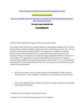 Pr Communication Memo Essay Format - image 9