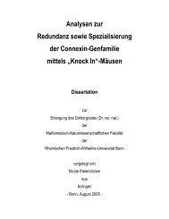 Analysen zur Redundanz sowie Spezialisierung der Connexin ...