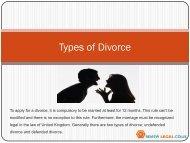 Types of Divorce