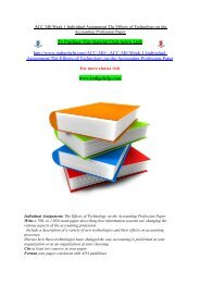 ACC 340 Week 1 Individual Assignment The Effects of Technology on the Accounting Profession Paper/indigohelp