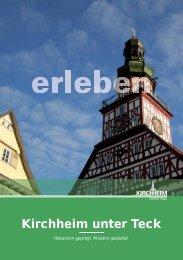 Imagebroschüre Tourismus Kirchheim