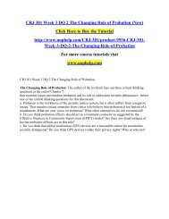 CRJ 301 Week 3 DQ 2 The Changing Role of Probation (New)