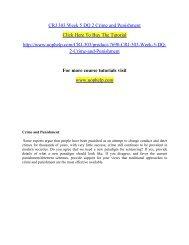 CRJ 303 Week 5 DQ 2 Crime and Punishment
