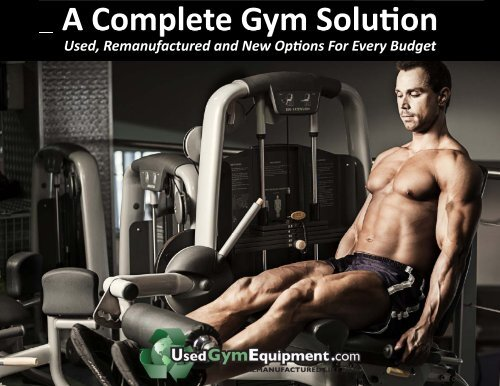A Complete Gym Solu�on