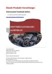 neue ebook-Marken: Woerterbuch Kfz-Technik/ Business English/ Lexikon-EDV/ Glossar Mediengestaltung (Sommer-Produkt-Vorschlaege)