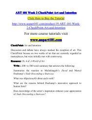 ART 101 Week 2 CheckPoint Art and-uopart101dotcom