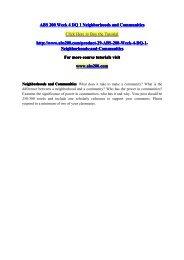 ABS 200 Week 4 DQ 1 Neighborhoods and Communities / abs200dotcom
