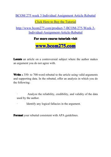 bcom 275 week 4 discussion questions For more course tutorials visit wwwuophelpcom what is the difference between persuasion and manipulation how do arguments and language affect the difference.