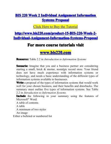 BIS 220 Week 2 Individual Assignmen-bis220dotcom