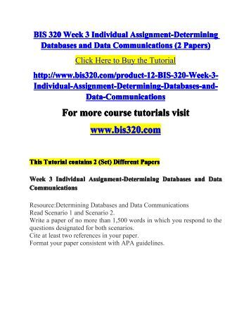 determining databases and data communications scenario 1 2 bis320 2 big data life cycle big data — changing the way businesses compete and operate | 1 it is difficult for conventional relational databases to handle unstructured data, so software frameworks like hadoop(r), for.