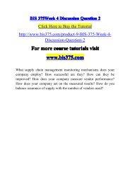 BIS 375 Week 4 Discussion Question 2-bis375dotcom