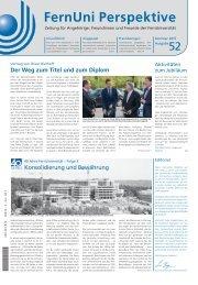 FernUni Perspektive Nr. 52 | Sommer 2015