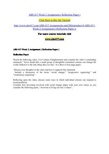 ABS 417 ASH Course Tutorial / Uoptutorial