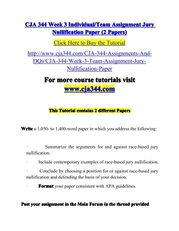 jury nullification paper 3 essay Lawyers rarely have the opportunity to overtly discuss jury nullification with jurors   you cannot expect a term that did not exist to appear in a historical document   assigned a task of writing an essay promoting jury nullification in accordance   answered dec 3, 2015 author has 158k answers and 306m answer views.