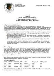Protokoll GV 2008 SRC - Schweizerischer Rottweiler Club