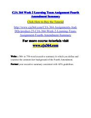 CJA 364 Week 2 Learning Team Assignment-cja364dotcom