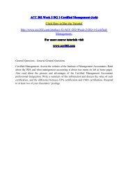 ACC 202 Week 2 DQ 1 Certified Management (Ash) / acc202dotcom